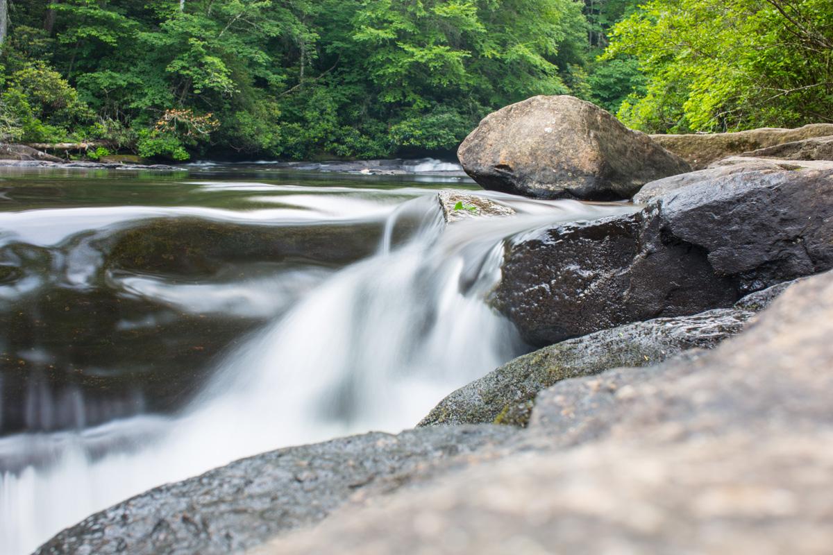 Zack Smith Photography North Carolina Brevard School of Music Center water rocks nature beautiful scenery trees