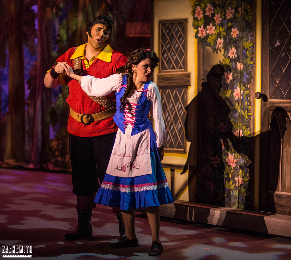 Beauty and the Beast The Performing Arts Academy Talent Performance Photography Zack Smith Photographer Chalmette Gaston and Belle Me Disgust Funny Musical Love