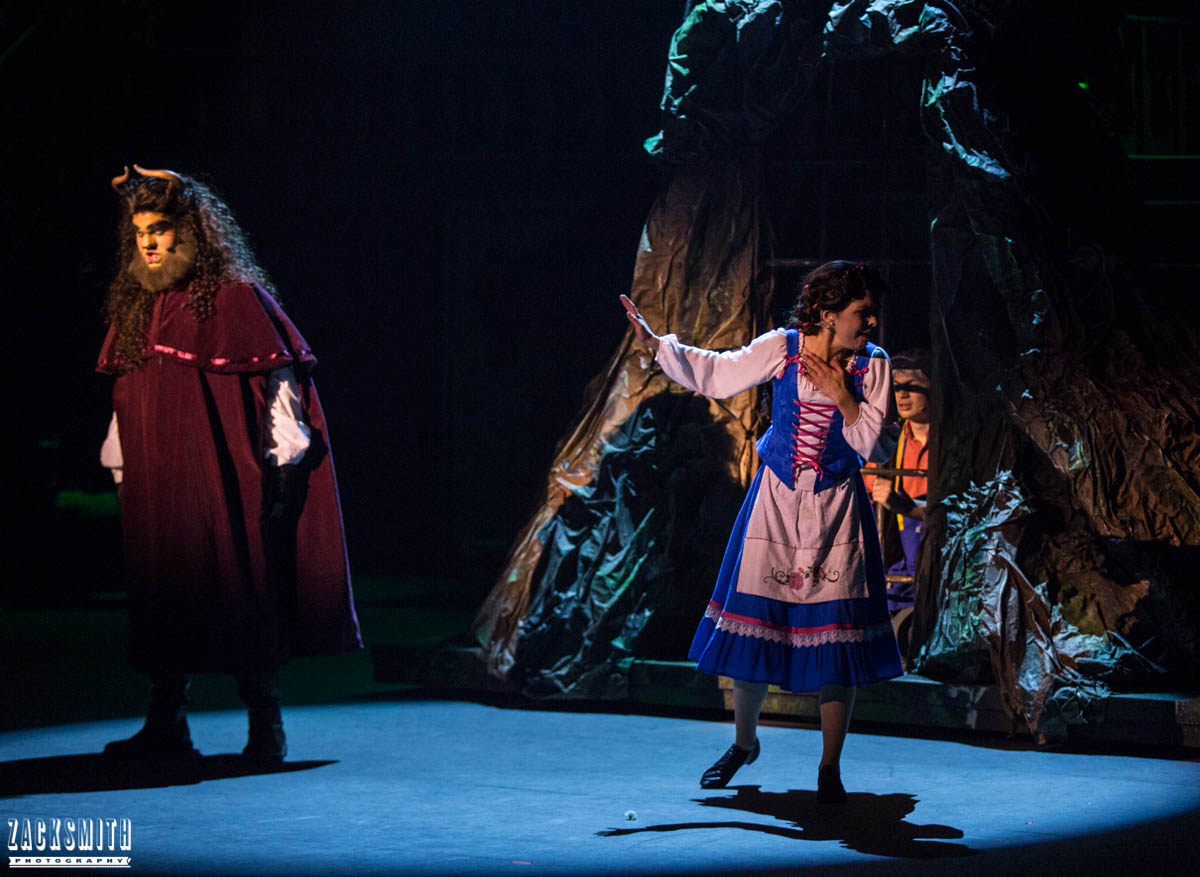 Beauty and the Beast The Performing Arts Academy Talent Performance Photography Zack Smith Photographer Chalmette Beast Belle Horrified stage musical theater