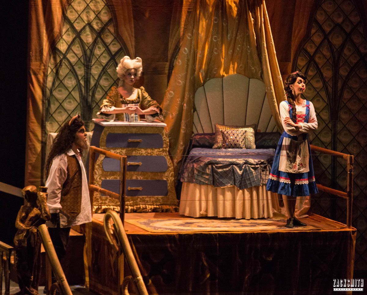 Beauty and the Beast The Performing Arts Academy Talent Performance Photography Zack Smith Photographer Chalmette Musical Theater Dresser Bedroom Belle Madame Bouche Beast