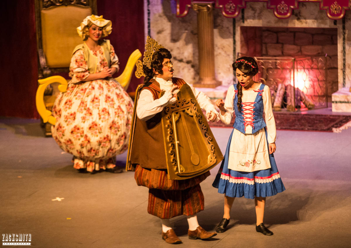 Beauty and the Beast The Performing Arts Academy Talent Performance Photography Zack Smith Photographer Chalmette Musical Theater Cogsworth Belle Clock Mrs. Pots