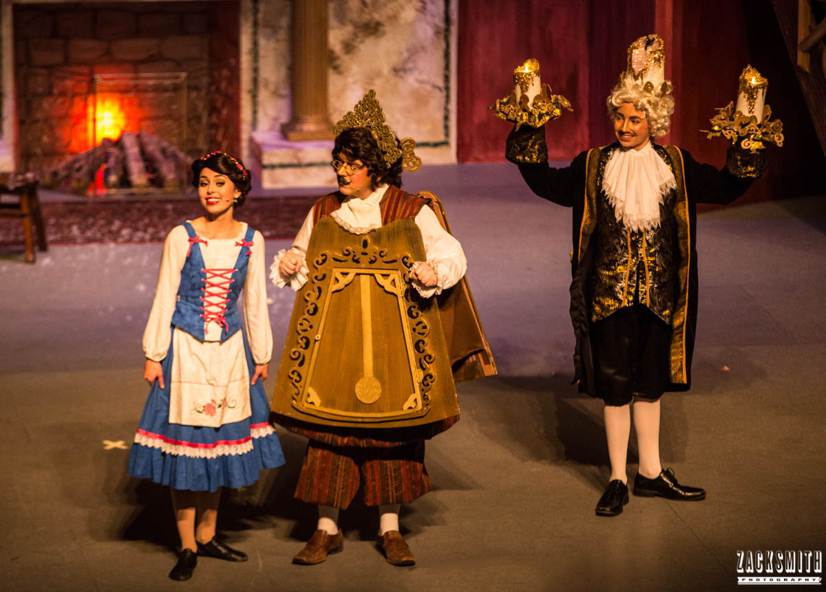 Beauty and the Beast The Performing Arts Academy Talent Performance Photography Zack Smith Photographer Chalmette Musical Theater Lumiere Cogsworth Belle