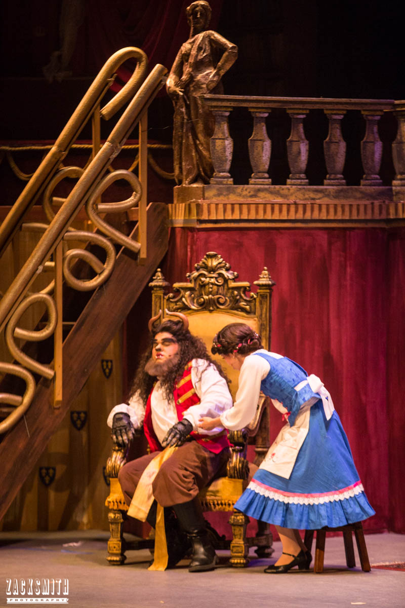 Beauty and the Beast The Performing Arts Academy Talent Performance Photography Zack Smith Photographer Chalmette Musical Theater Beast Hurt Belle