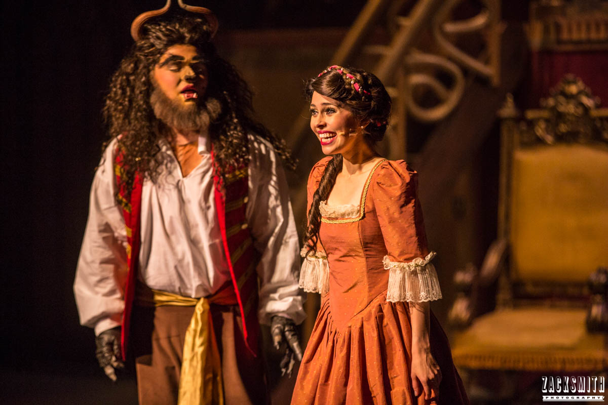 Beauty and the Beast The Performing Arts Academy Talent Performance Photography Zack Smith Photographer Chalmette Musical Theater Beast Belle