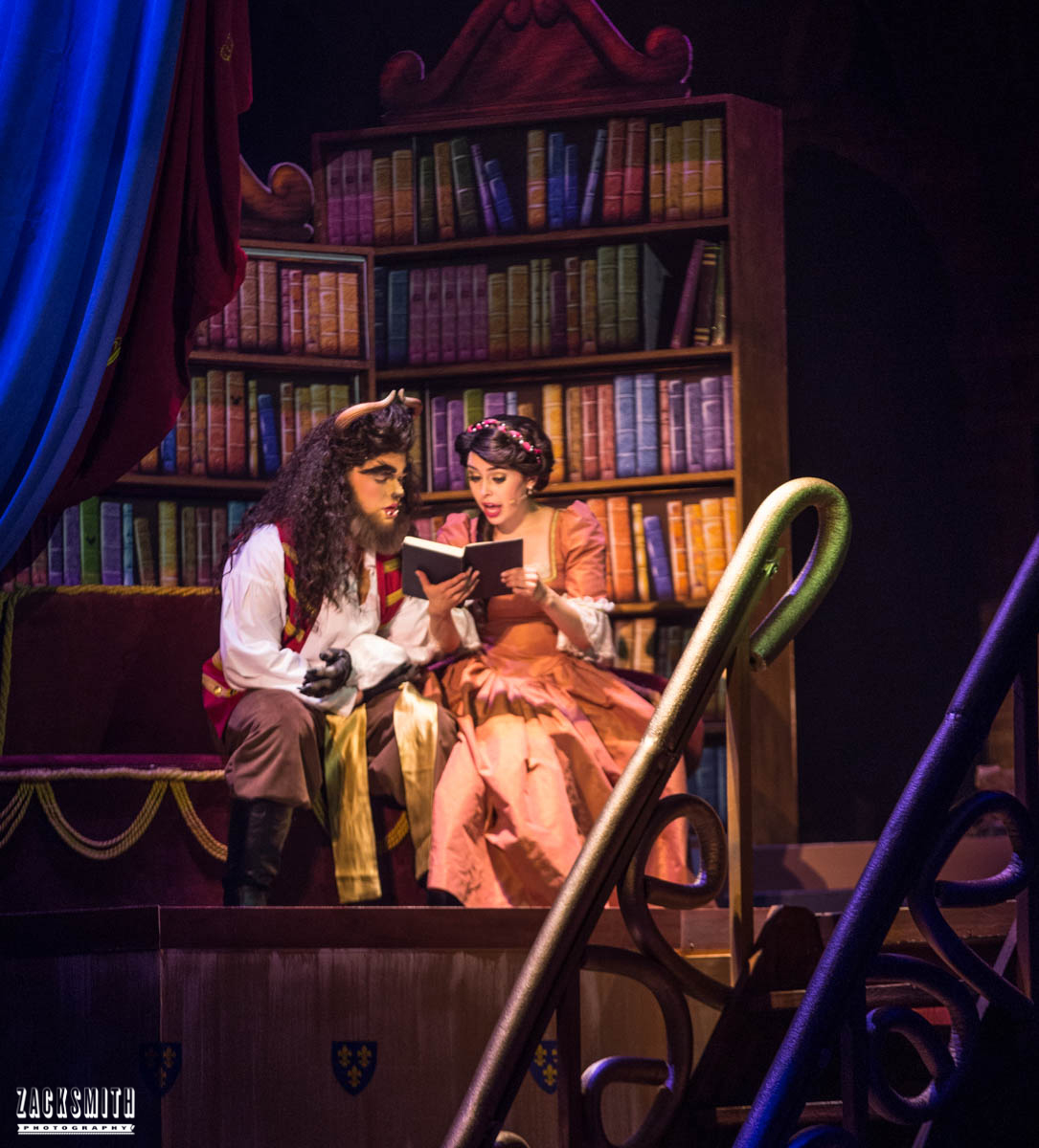 Beauty and the Beast The Performing Arts Academy Talent Performance Photography Zack Smith Photographer Chalmette Musical Theater Library Belle Beast Reading