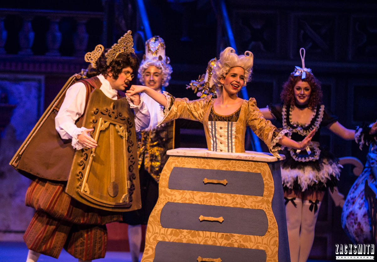 Beauty and the Beast The Performing Arts Academy Talent Performance Photography Zack Smith Photographer Chalmette Musical Theater cogsworth lumiere babette bouche