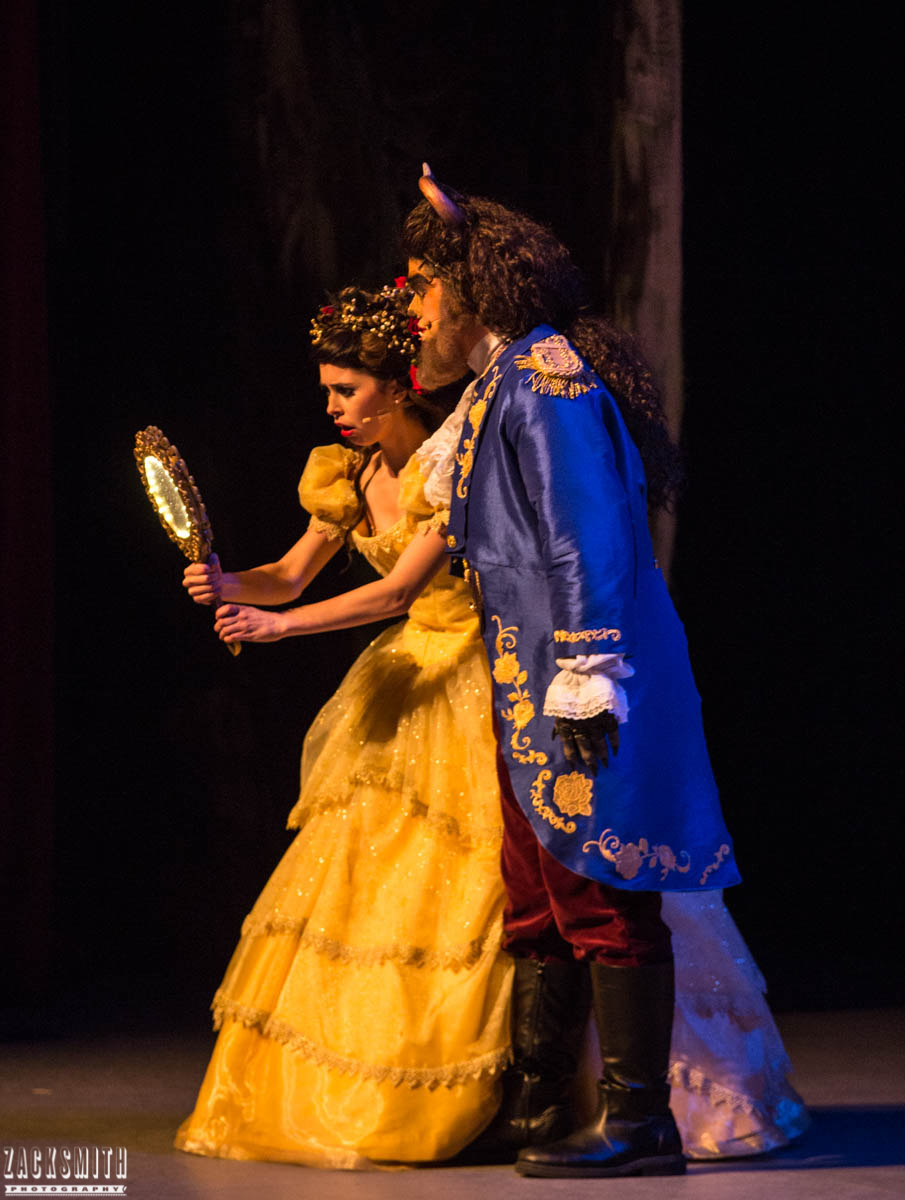 Beauty and the Beast The Performing Arts Academy Talent Performance Photography Zack Smith Photographer Chalmette Musical Theater Belle Beast magic Mirror