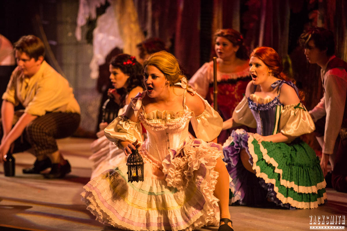 Beauty and the Beast The Performing Arts Academy Talent Performance Photography Zack Smith Photographer Chalmette Musical Theater Villagers Silly girls Mob song