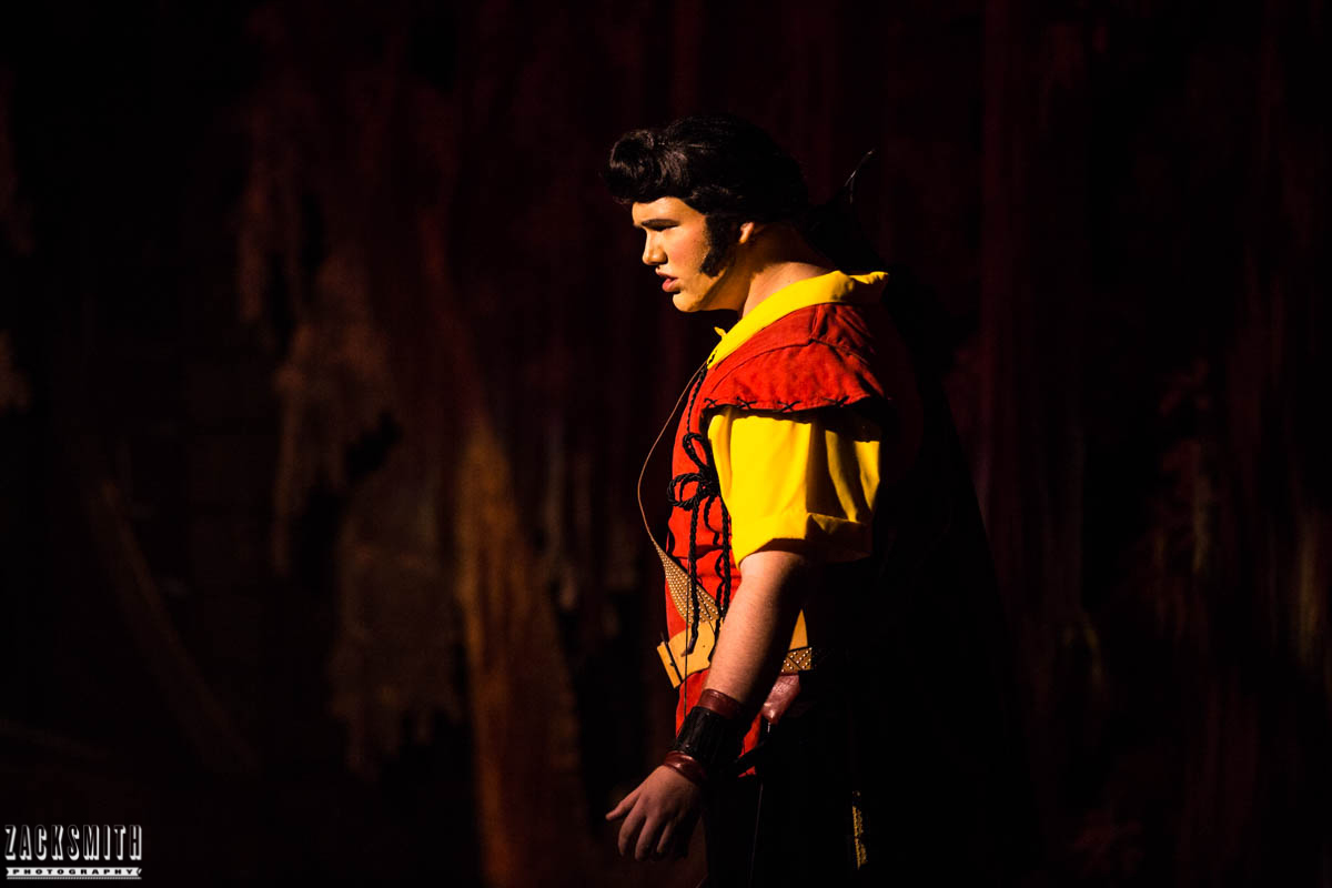 Beauty and the Beast The Performing Arts Academy Talent Performance Photography Zack Smith Photographer Chalmette Musical Theater Gaston Fight Scene Battle Evil Villain Dark Intense