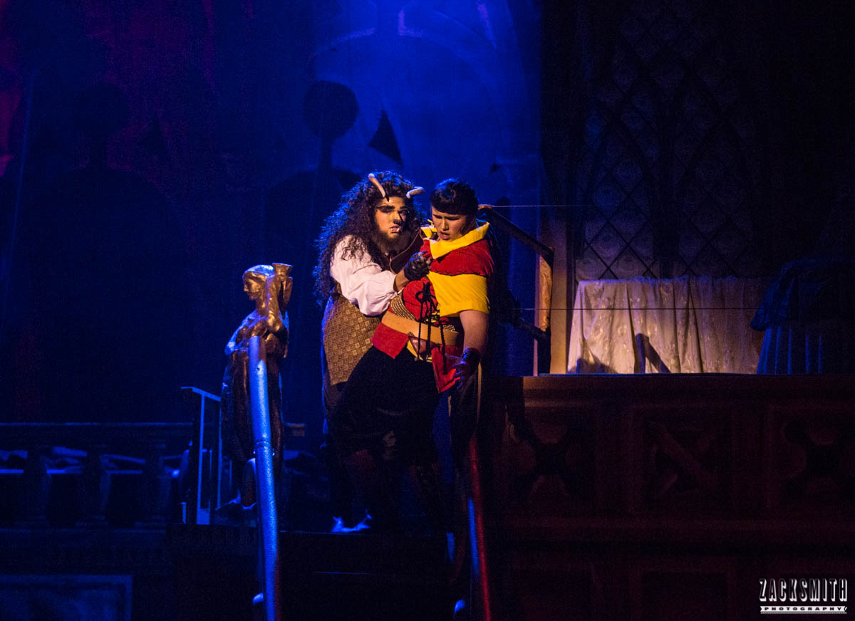 Beauty and the Beast The Performing Arts Academy Talent Performance Photography Zack Smith Photographer Chalmette Musical Theater Fight Scene Gaston Beast Battle