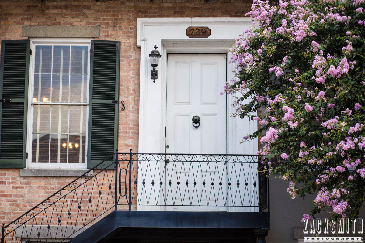 """Zack Smith Photography - """"Walking with the Prime"""" photo gallery new orleans 85mm Louisiana photographer photo tips and techniques door porch flowers architecture"""