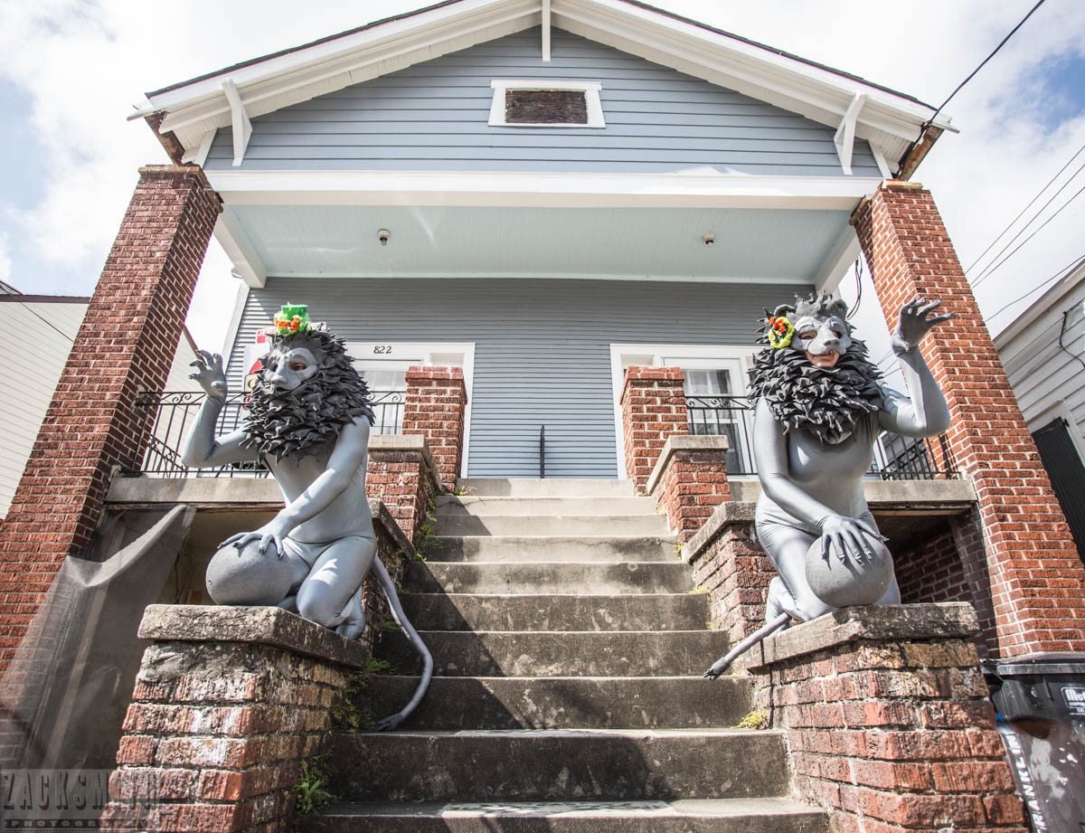 """Winners...my favorite costumes were these two """"House Ornament"""" lions..."""