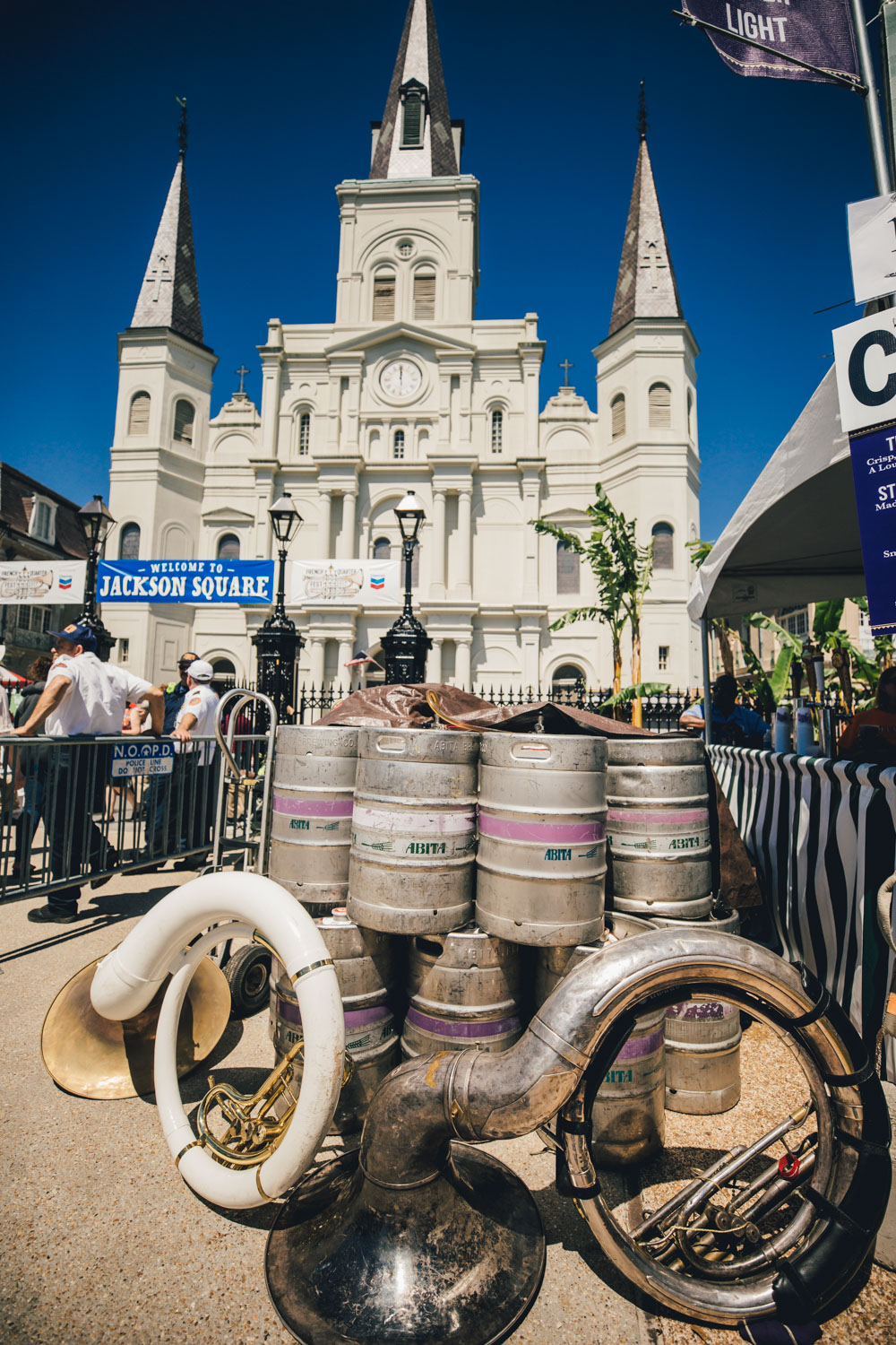 "New Orleans has it's priorities straight: Music, Booze, and Church...the ""other"" Holy Trinity."