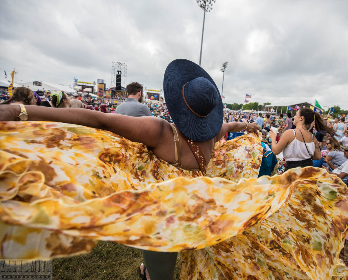 Yvonne Grant dances to Jonathan Batiste and Stay Human at her first Jazz Fest