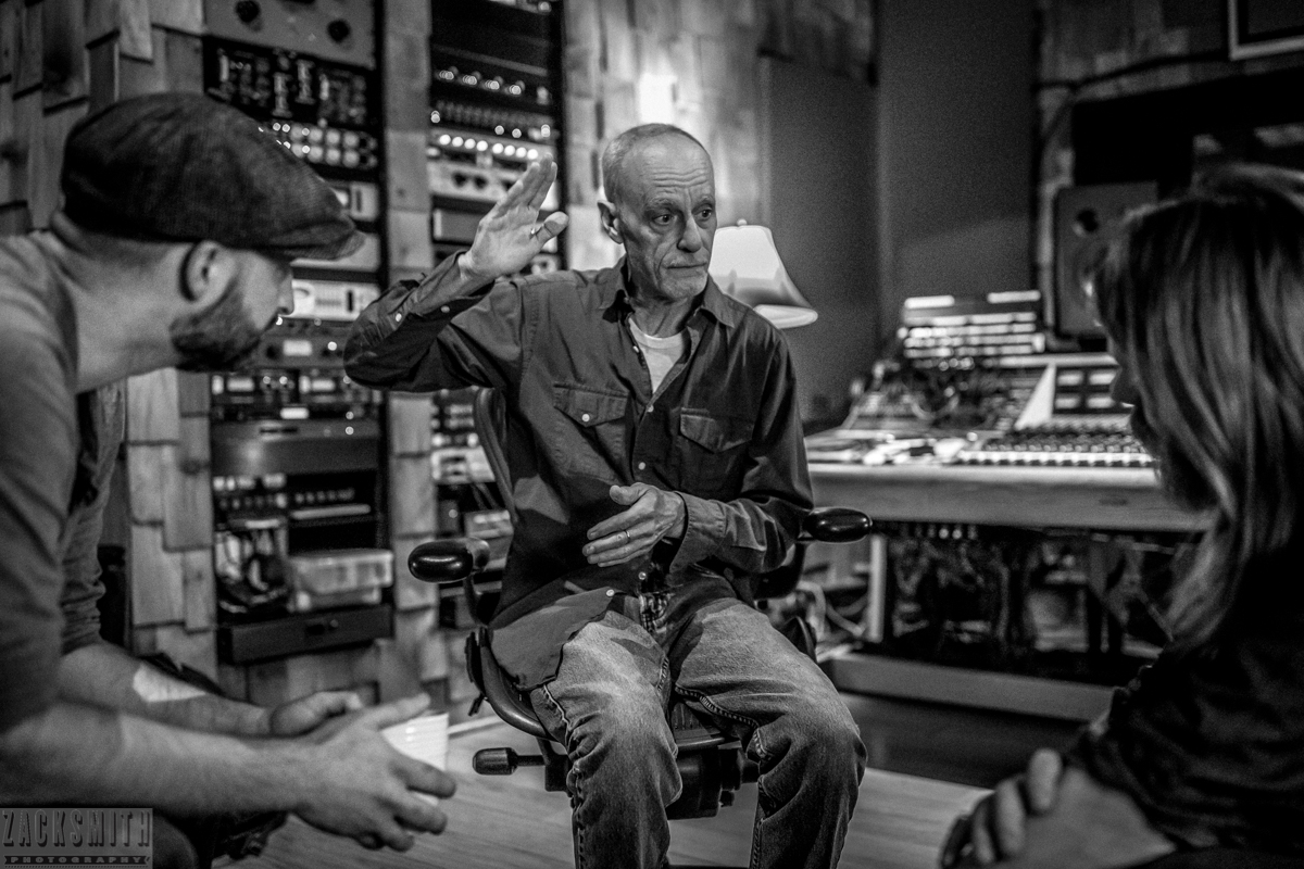 Watching another master at work - Mr. Johnny Vidacovich. Here Seth and Myles listen as Johnny explains the difference between horizontal and vertical rhythm. Yes, we went there.