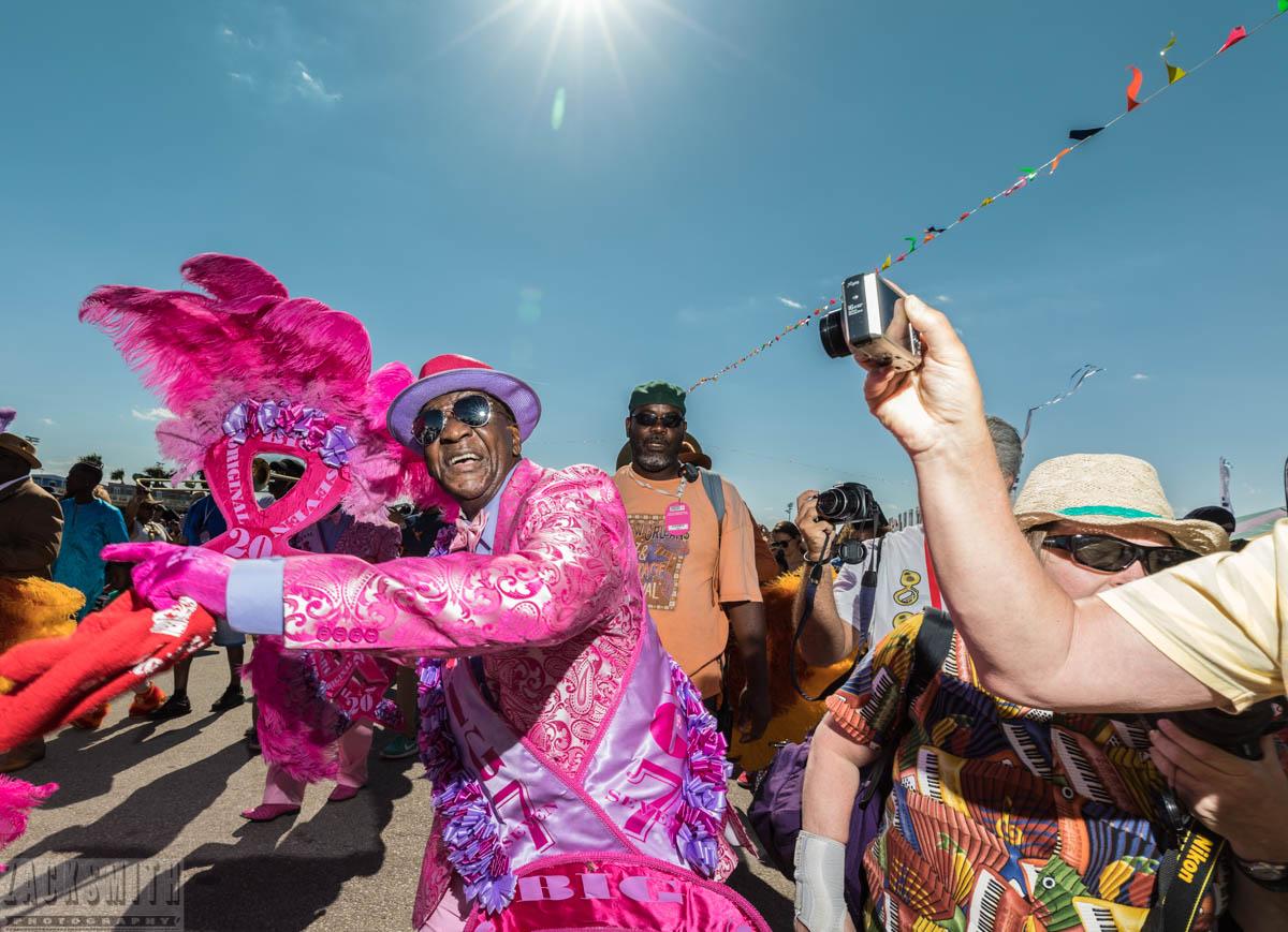 The Original Big 7 Social Aid and Pleasure Club at Jazz Fest 2017