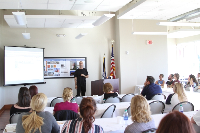 """Thank you to the """"Grow St. Bernard"""" class at the St. Bernard Economic Development Foundations series. I enjoyed talking about """"Build Your Brand"""" using high quality content and SEO marketing!  PHOTO: SBEDF/Grow St. Bernard"""