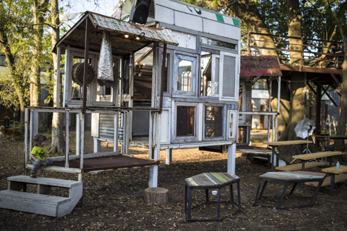 The structures at the Music Box are fully functional art and music installations.