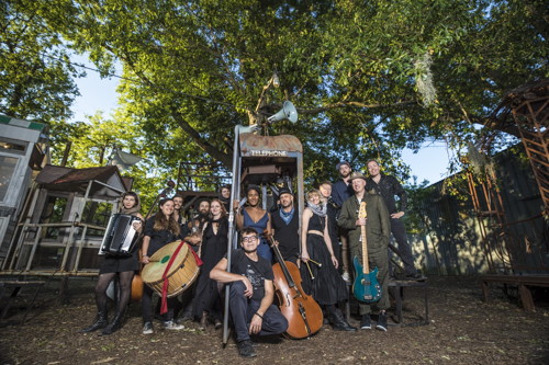 """ANOTHER epic group portrait at The Music Box! Dustan Louque presented """"Dub Down Babylon"""" which featured Layla McCalla, Nels Cline, Blato Zlato and many more..."""