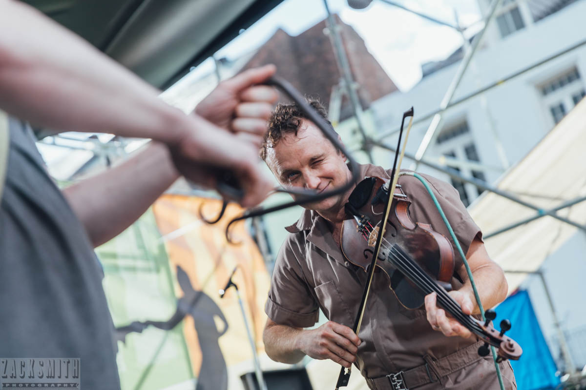 Louis Michot of the Lost Bayou Ramblers performs on Day 1 of French Quarter Fest. ©ZSP