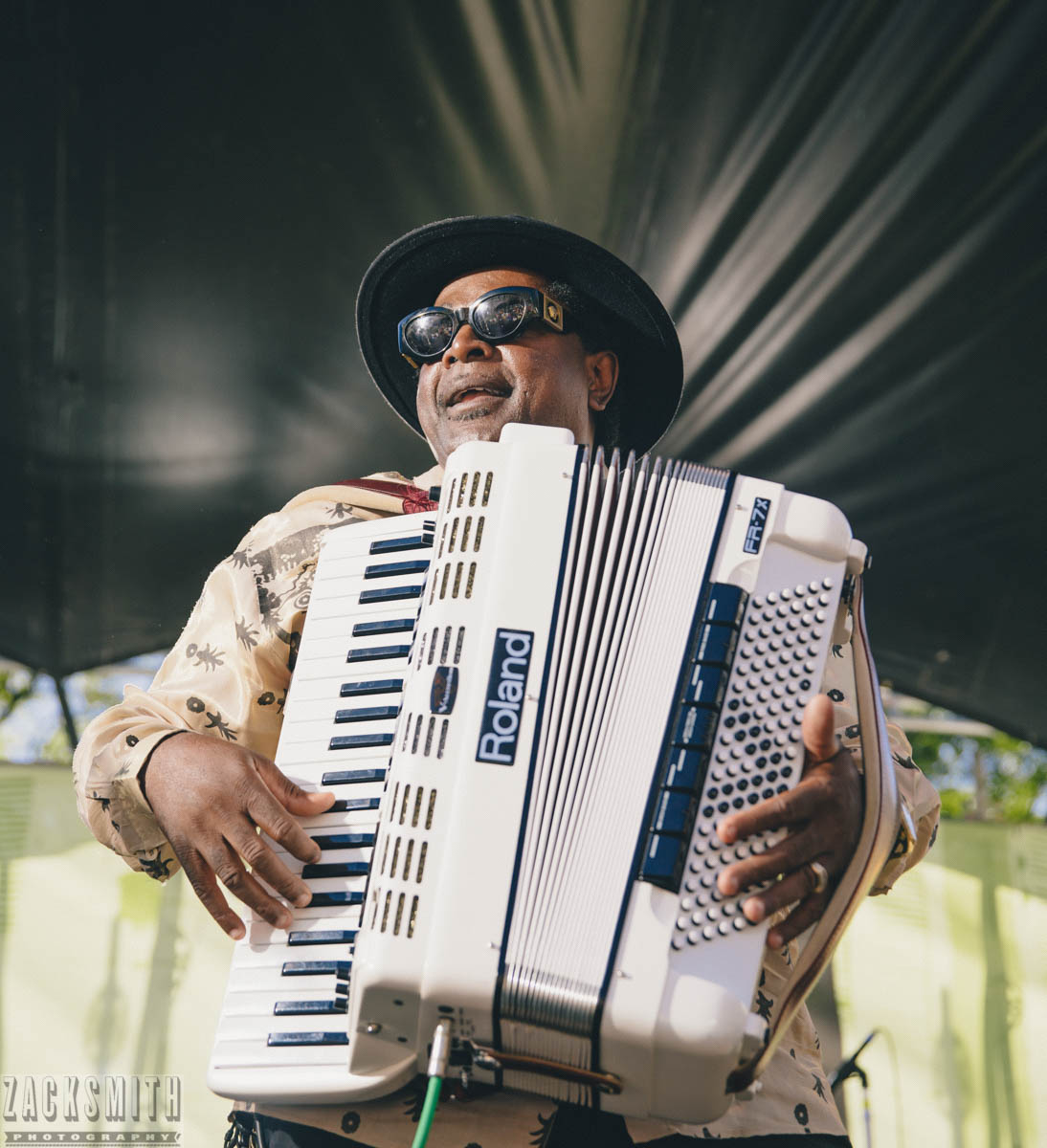 Nathan Williams and the Zydeco Cha Cha's at FQF 2018. ©Zack Smith Photography