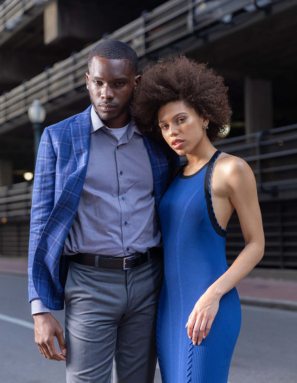 Tyla and David on the streets of New Orleans where environment, style, and fashion meet.