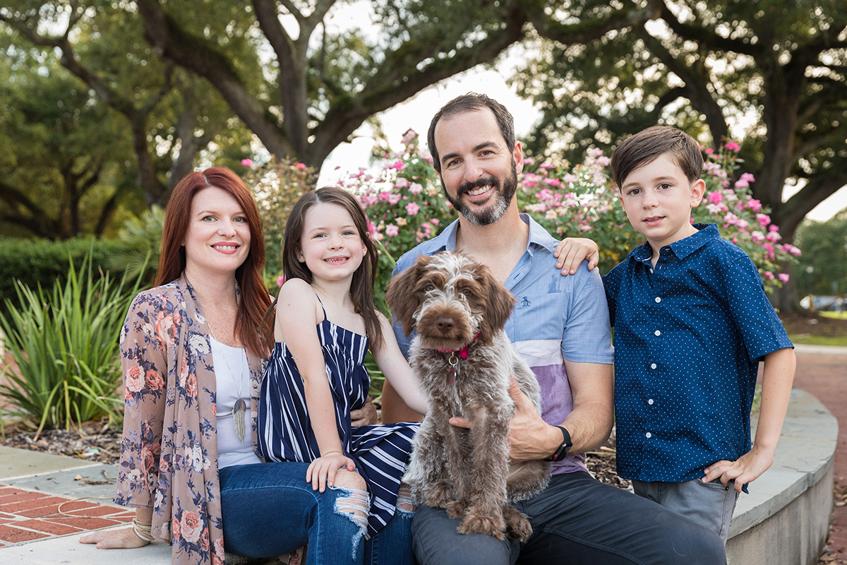 The Rhein family photographed at Audubon Park in New Orleans. 2018 Zack Smith Photography