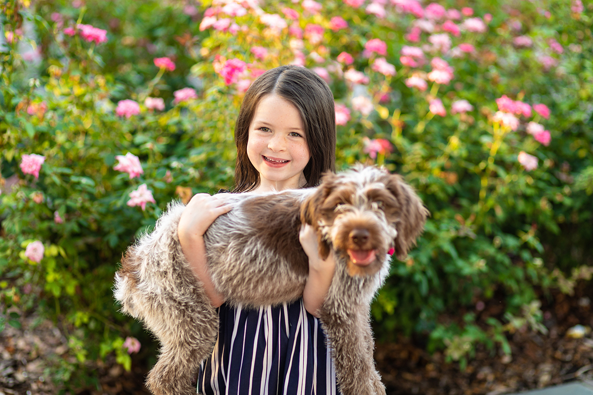 Maggie poses with Chloe. Notice the soft out of focus backgrounds. ©Zack Smith Photography.