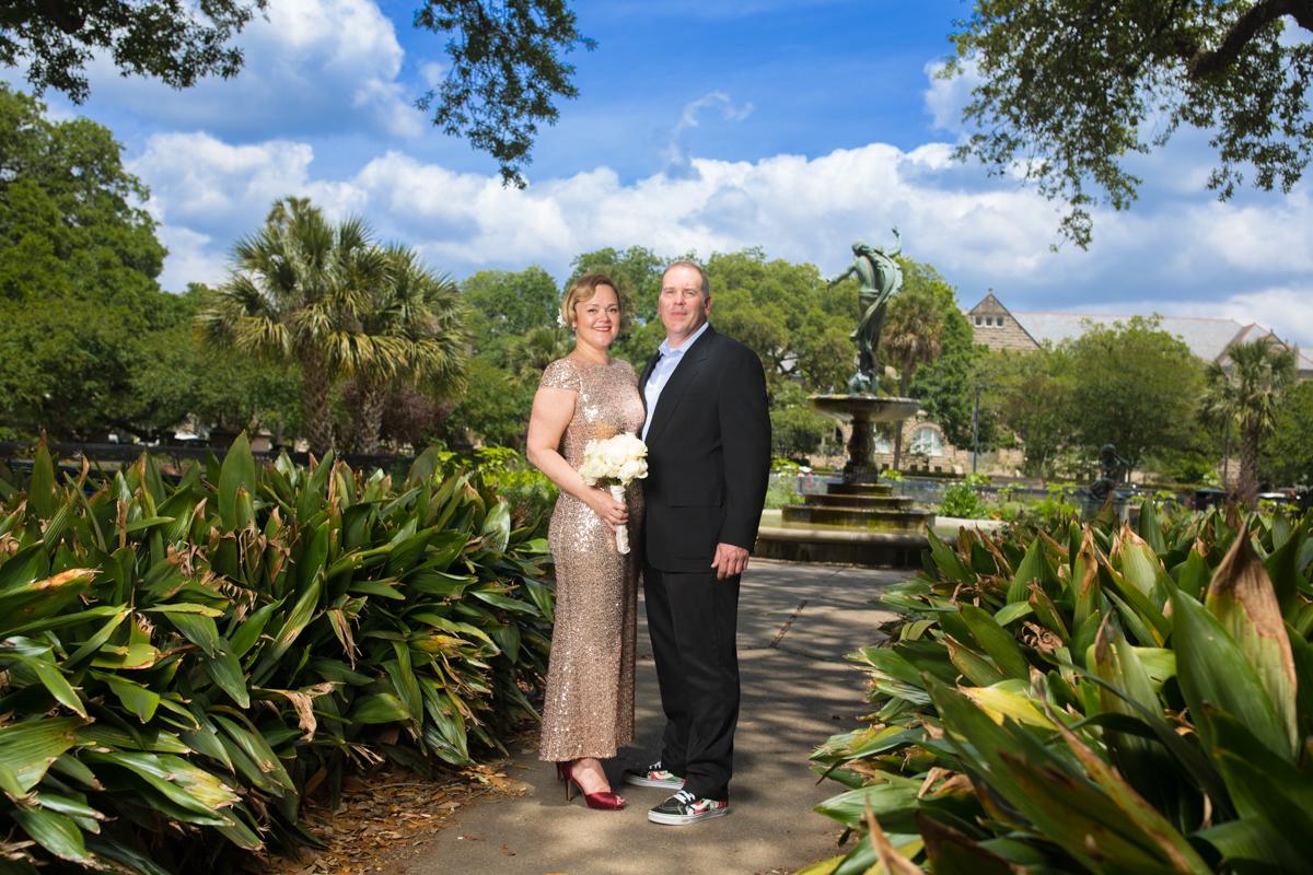 Young wedding, Audubon Park