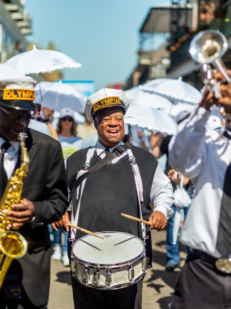 Joe Lastie, Olympia Brass Band