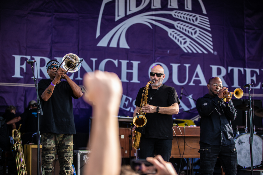 Galactic closes out the Abita Stage during their first appearance at French Quarter Fest! ©Zack Smith Photography