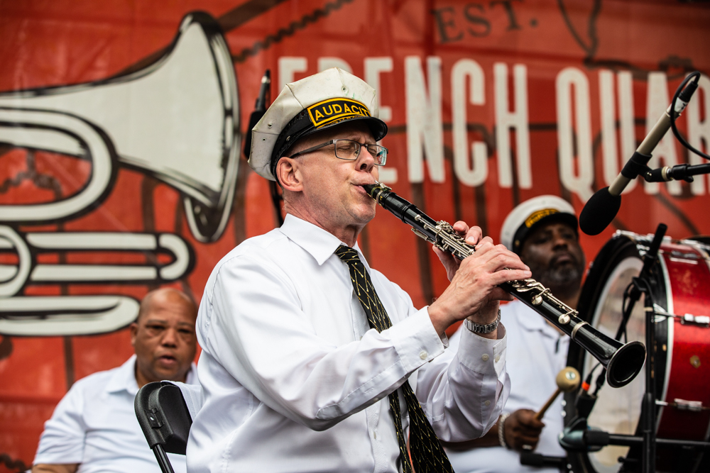 Audacity Brass Band tore it up at the new LA Fish Fry Stage at the U.S. Mint. ©Zack Smith Photography