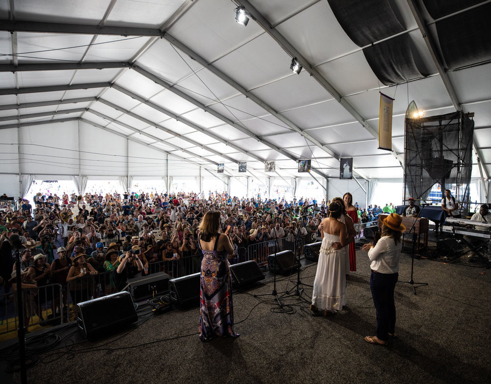 Quite possibly the first female gay wedding at Jazz Fest…was so cool.