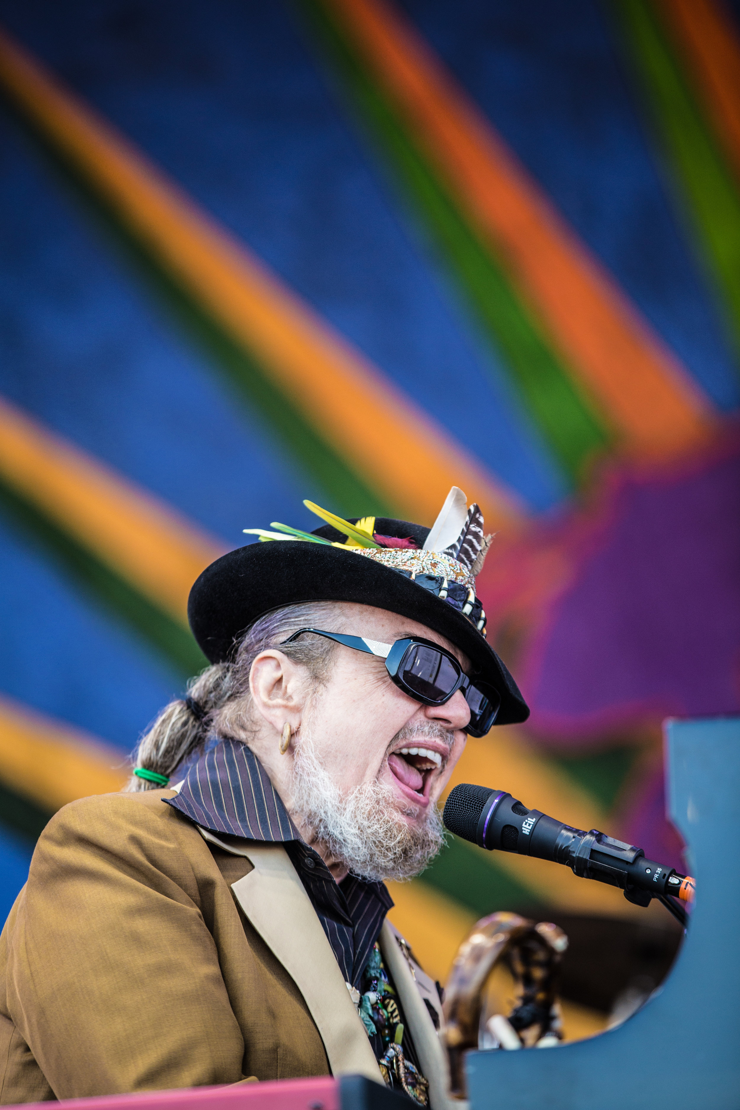 Dr. John performs at the 2009 Jazz and Heritage Festival. ©Zack Smith Photography