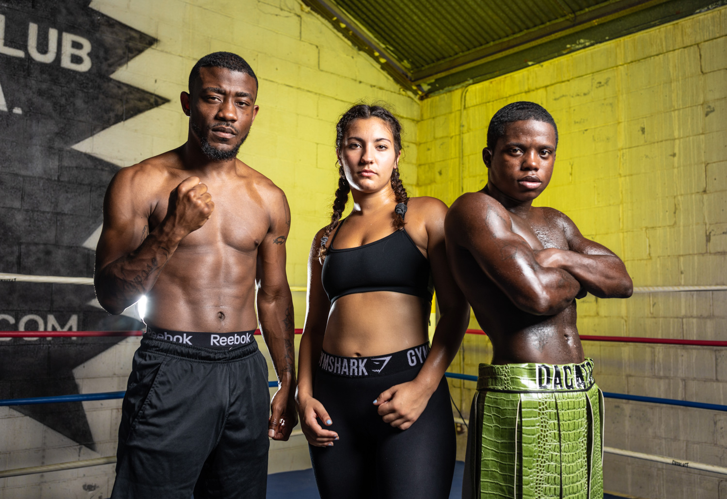 "Kelvin Brown, Leigh Cordisco, and Delvin ""Lump"" McKinley photographed at Director Boxing in New Orleans, LA. ©Zack Smith Photography"