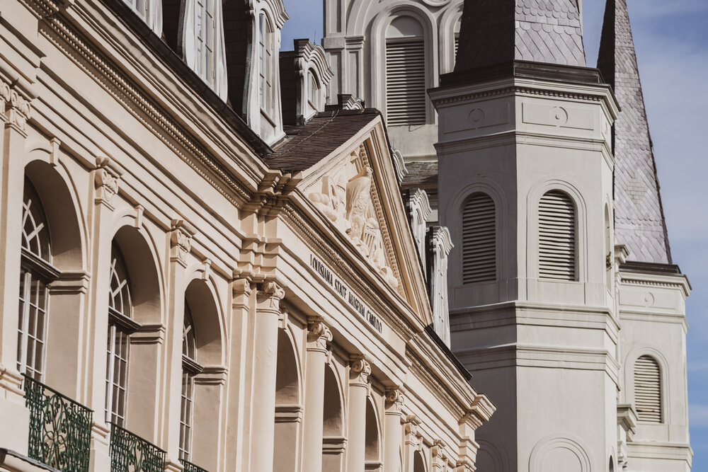 Louisiana State Museum and St. Louis Cathedral, shot with the Sony A7riv and 135mm 1.8G - ISO160 / f2.8 / 1/6400