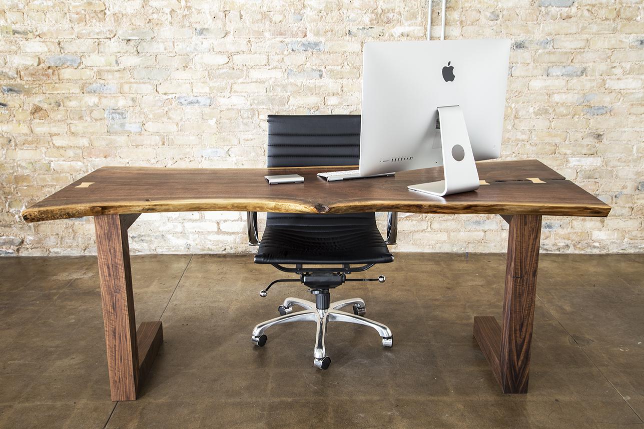 Walnut Slab Executive Desk