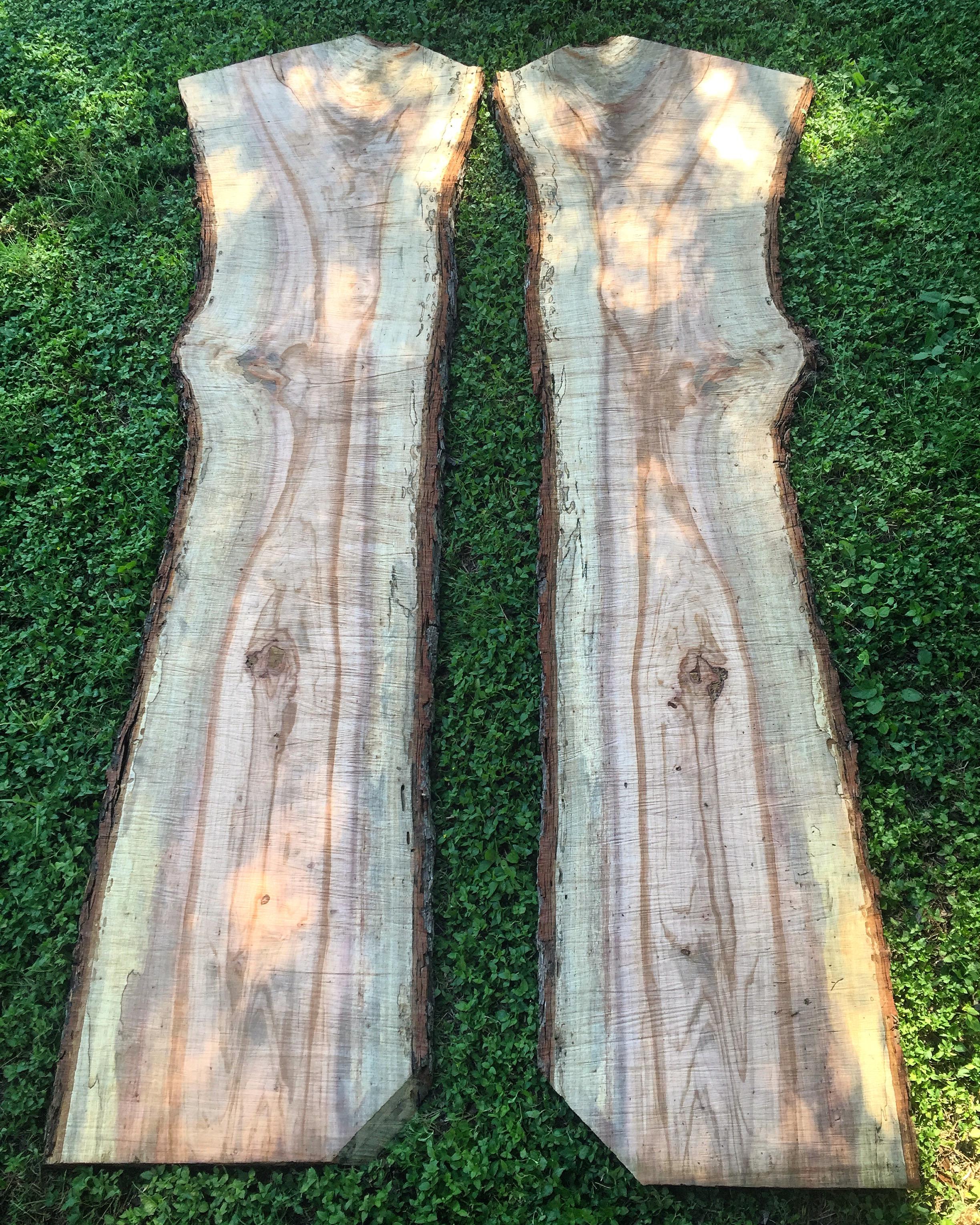 Book-matched Pecan slabs
