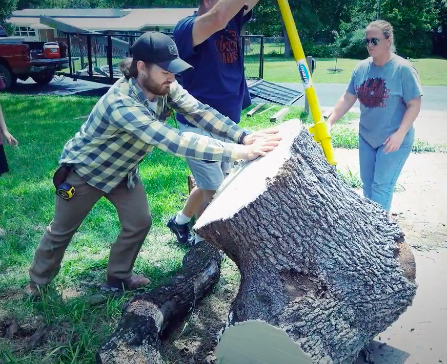 Dane moving the Live Oak