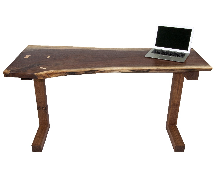 Live Edge Walnut Desk with cantilever base