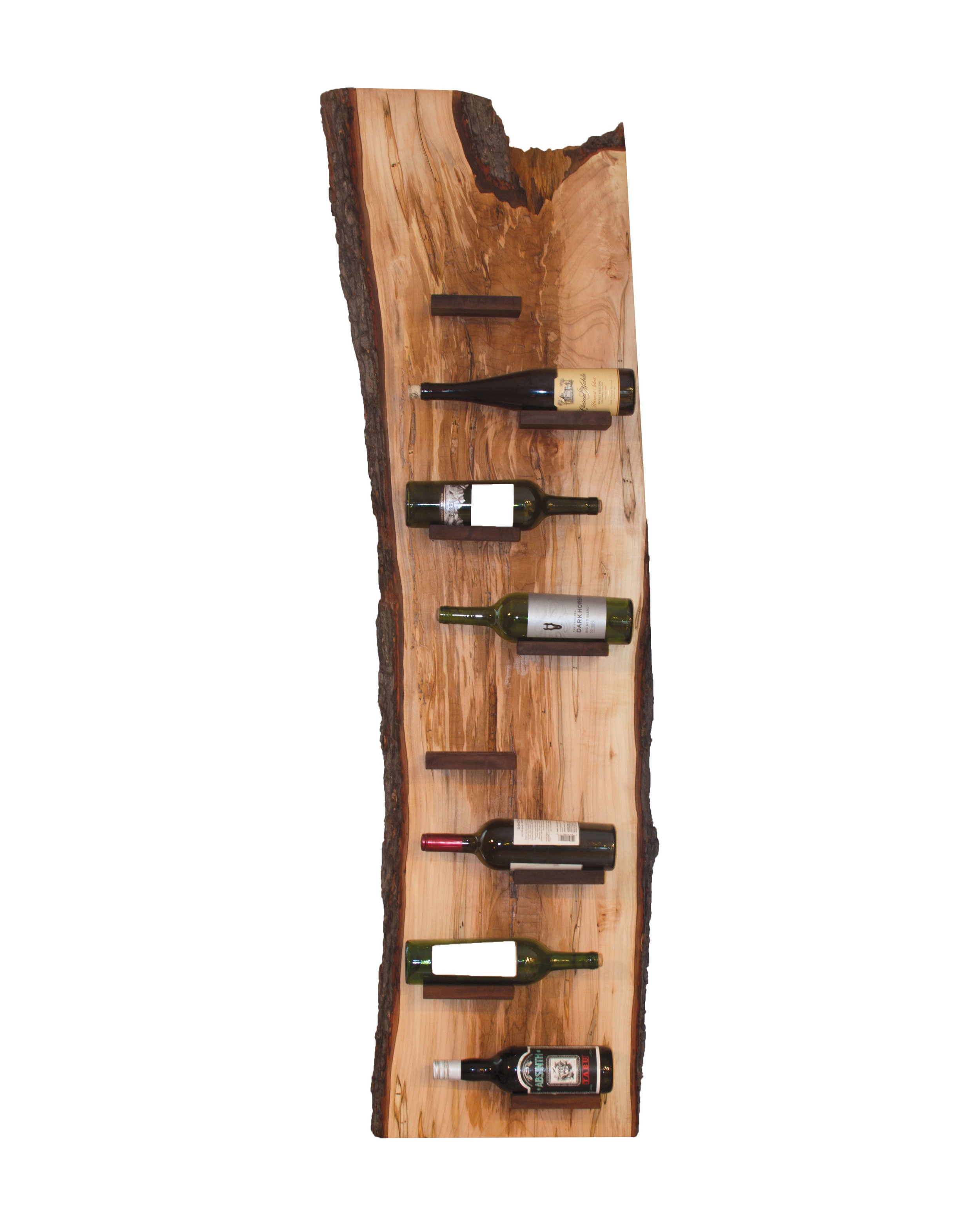 Wine rack made from a single, solid slab