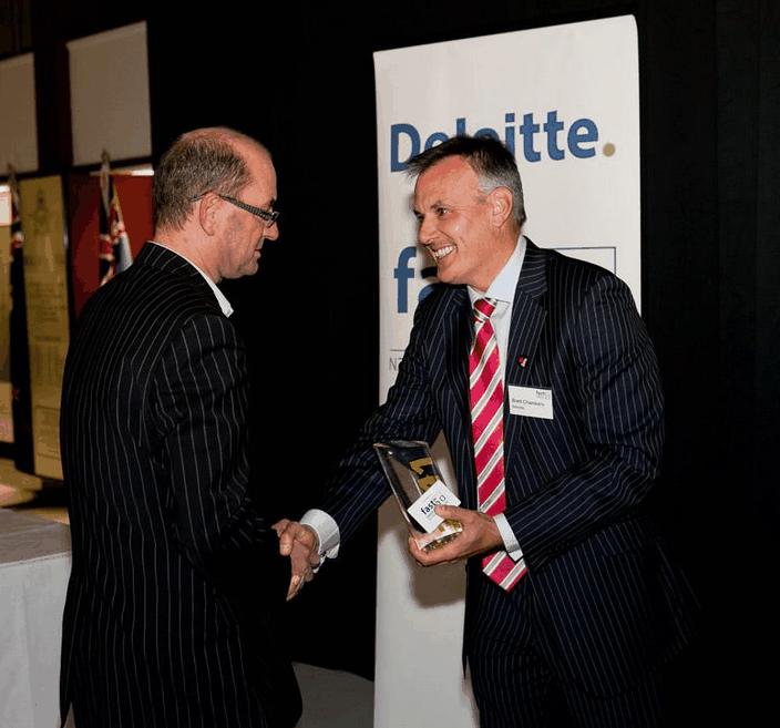 Johnathan Tilley receiving his second Deloitte Fast 50 award Dec 2011