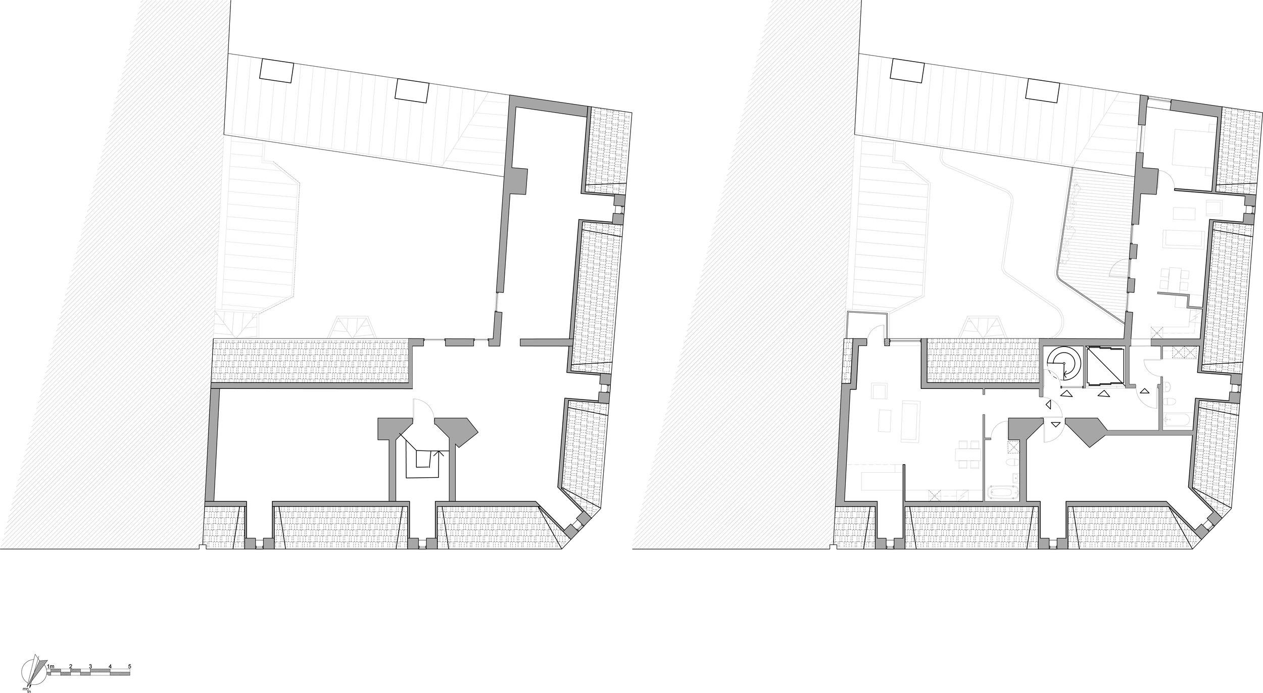 attic existing                                                              attic proposed