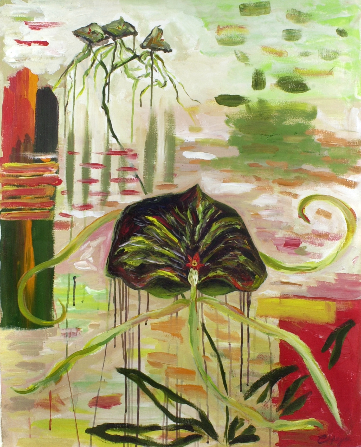 ORCHID iii   acrylic on watercolour paper, 60x85cm