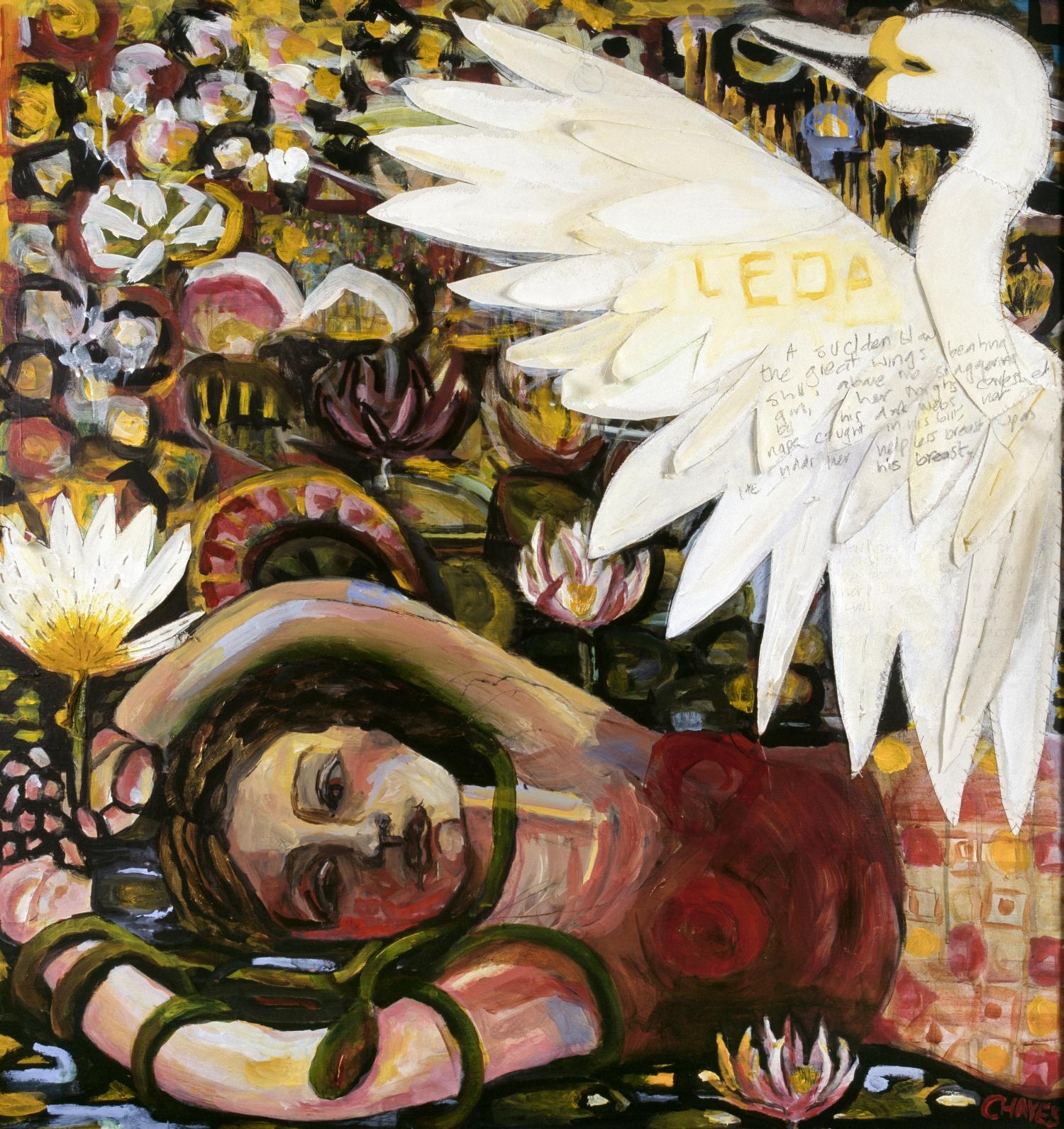 LEDA   mixed media on canvas, 90x90cm