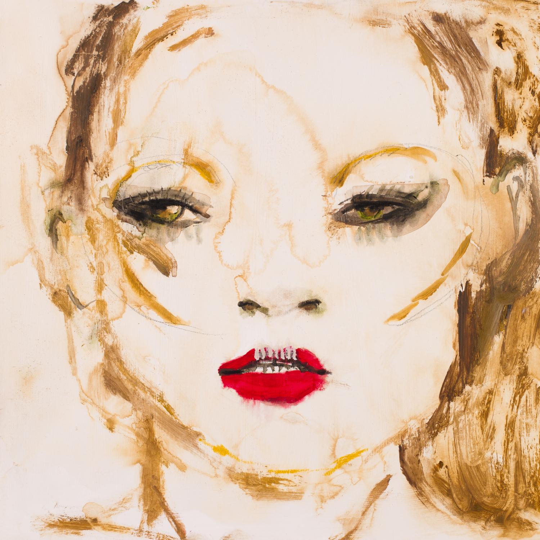 LOVELY GIRL 3   oil on paper, 30x30cm