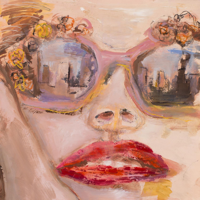LOVELY GIRL 2   oil on paper, 30x30cm