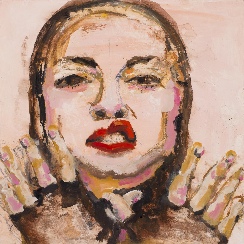 LOVELY GIRL 1  oil on paper, 30x30cm