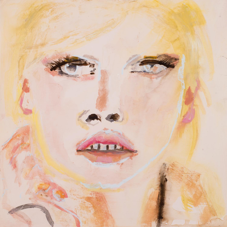 LOVELY GIRL 6   oil on paper, 30x30cm