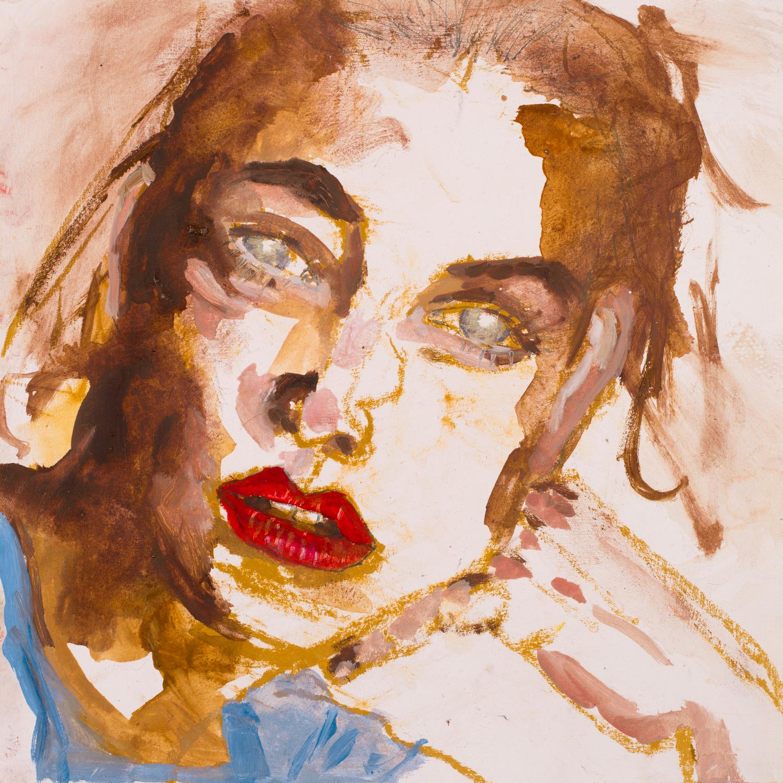 LOVELY GIRL 4   oil on paper, 30x30cm